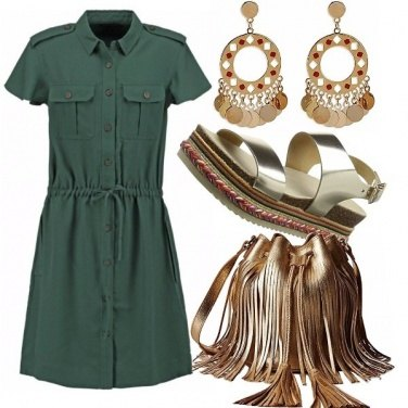 Outfit Militare in oro