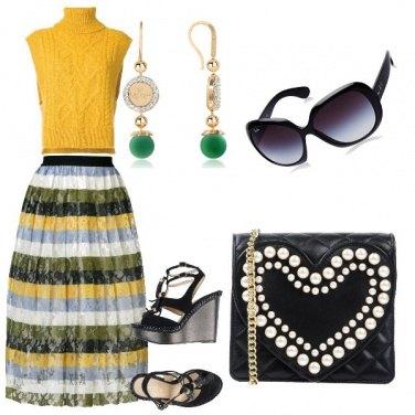Outfit La gonna multicolore