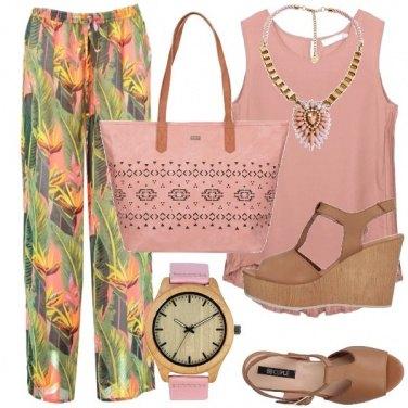 Outfit Legno e rosa