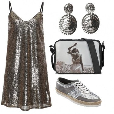 Outfit Look metallizzato