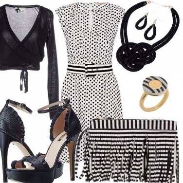 Outfit Dots and stripes