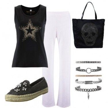 Outfit Nero con strass