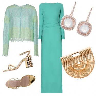 Outfit Turchese e oro