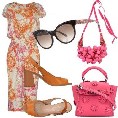 Outfit Arancione e rosa