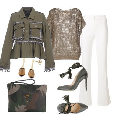 Outfit Natural tone and military