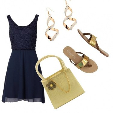 Outfit Blu e oro