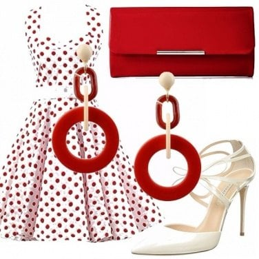Outfit Anni 50, a pois!
