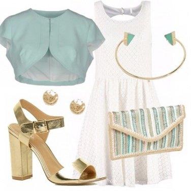 Outfit Bon ton verde acqua