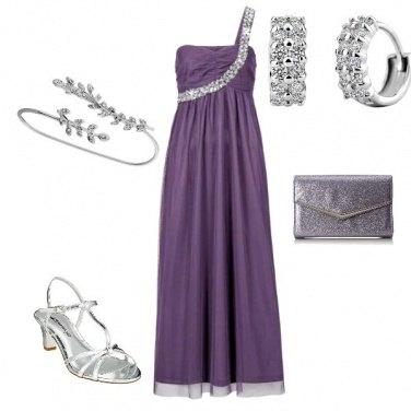 Outfit Cerimonia in mauve