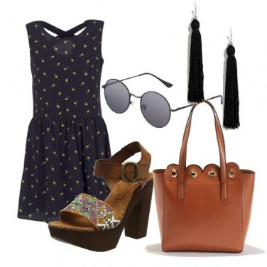 Outfit Ananas sull'abito