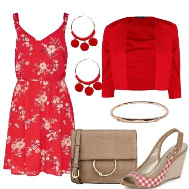 Outfit Mix and match sui toni del rosso