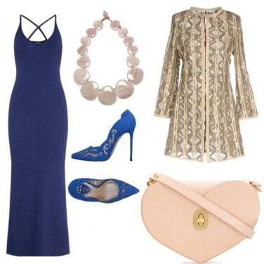 Outfit Cerimonia in blue