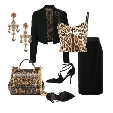 Outfit Animalier al top