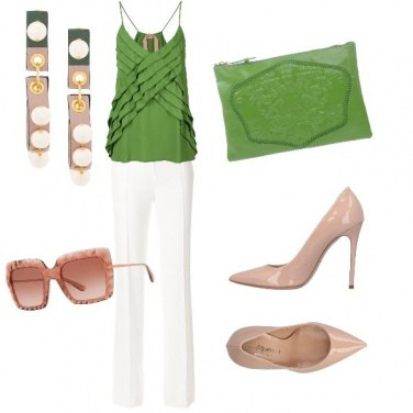 Outfit La scarpa nude very chic