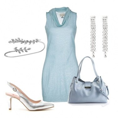 Outfit Cocktail in fresco azzurro