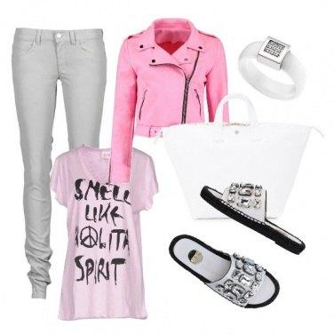 Outfit Panna e fragola