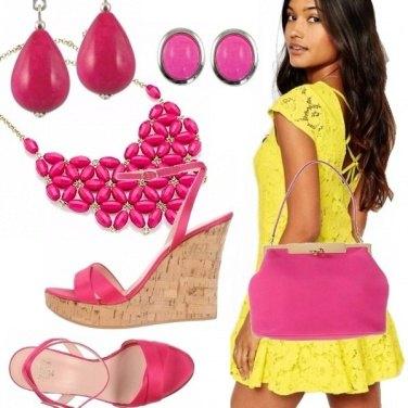 Outfit Orchidea gialla e rosa