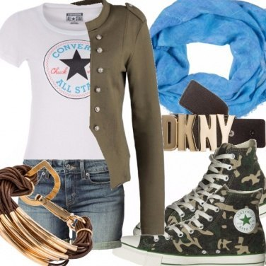 Outfit Military style, the camouflage