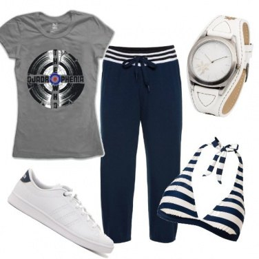 Outfit Jogging in spiaggia