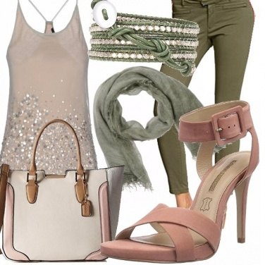 Outfit Pink and green