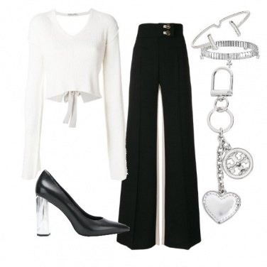 Outfit Black and silver