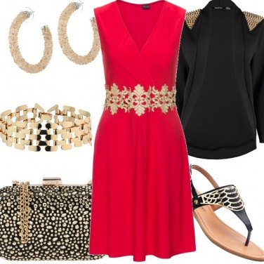 Outfit A cena in rosso
