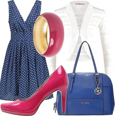 Outfit Blu & fucsia