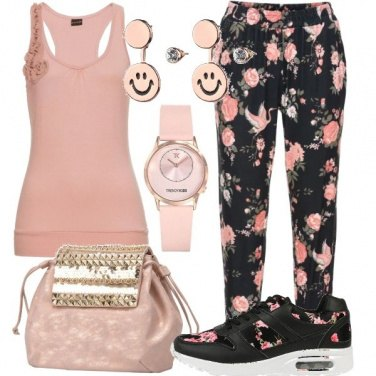 Outfit Rose school