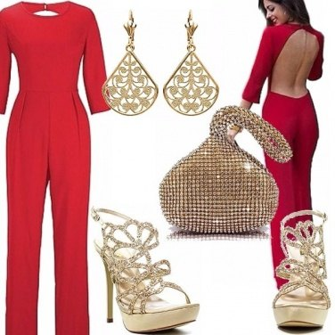 Outfit Jumpsuit e oro