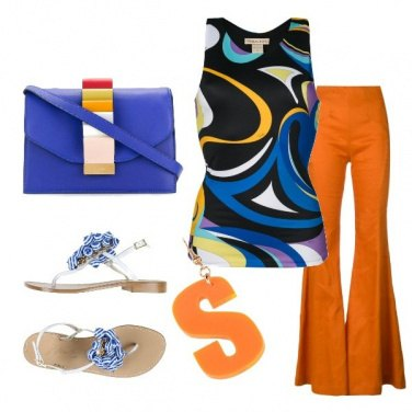 Outfit Top multicolore Pucci