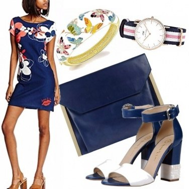 Outfit Floral blue