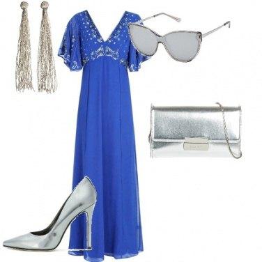 Outfit Cerimonia con accessori argento