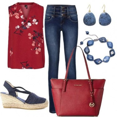 Outfit Casual Red vs Blue