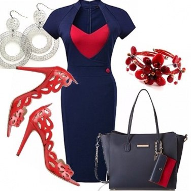 Outfit Blue and red