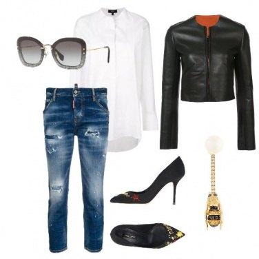Outfit Tacchi a spillo e jeans