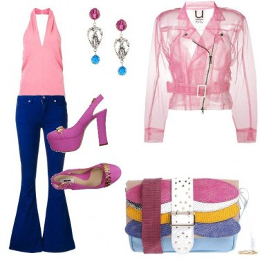 Outfit Il top rosa