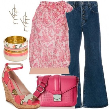 Outfit Jeans a campana