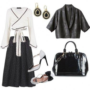 Outfit Fiocchi e pois