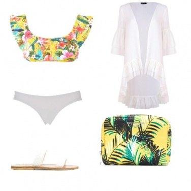 Outfit Un mare floreale