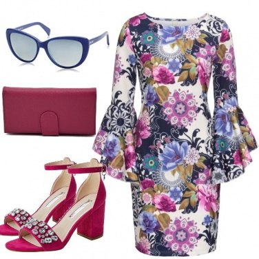 Outfit Floreale fucsia