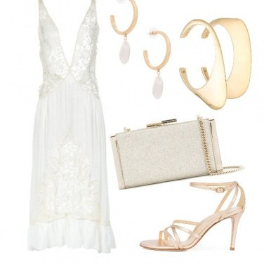 Outfit Bianco/oro