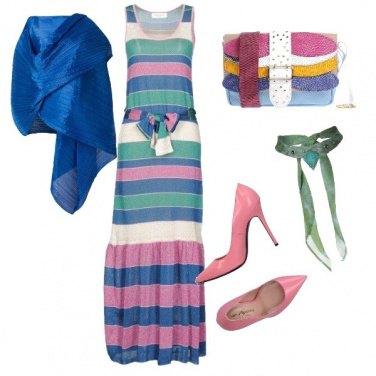Outfit L'invitata colorata
