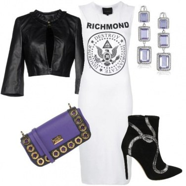 Outfit Violet & black