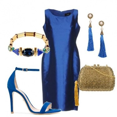Outfit Blu & Oro