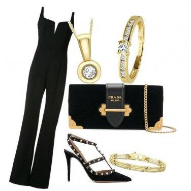 Outfit Eleganza dorata