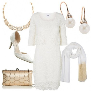 Outfit Mamma sposa in white & gold