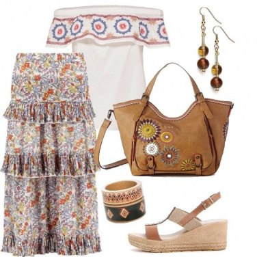Outfit Bohemian Flowers