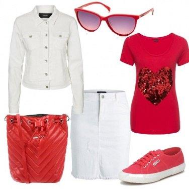 Outfit Il mio cuore rosso