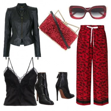 Outfit Red and black serata aggressive