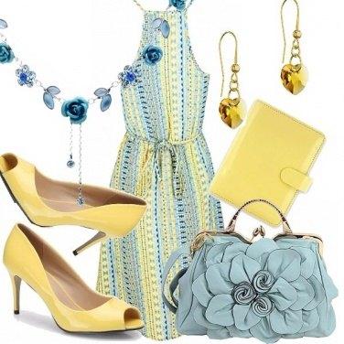 Outfit Di sole e d\'azzurro